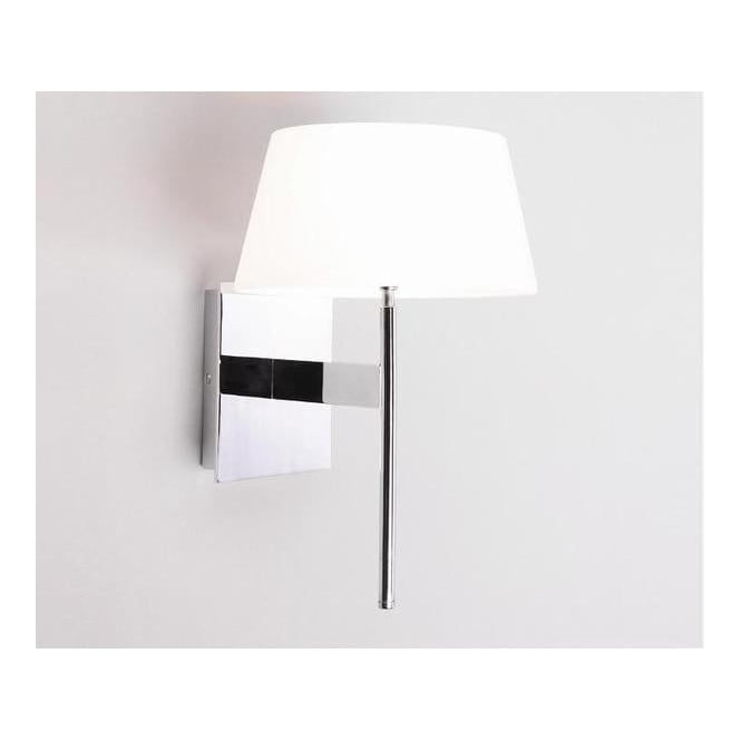 Astro Lighting 0331 Carolina Chrome Halogen Wall Light With White Glass Shade