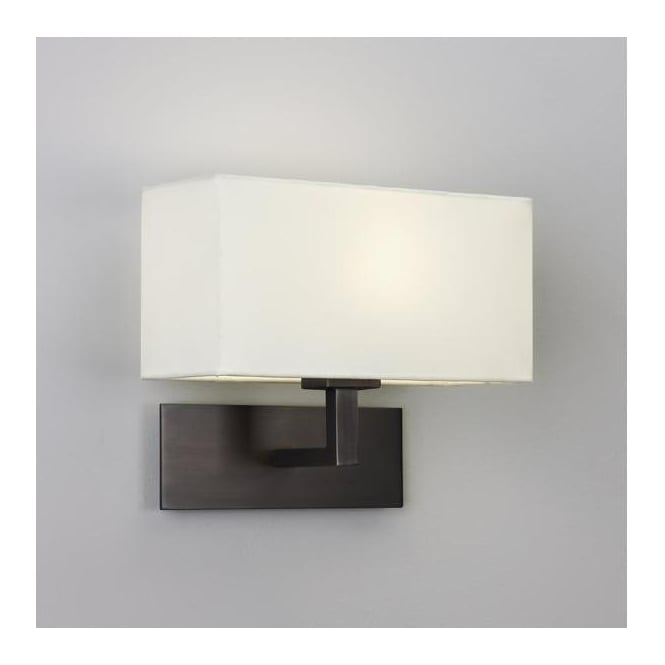 Astro Lighting 0424 Park Lane Bronze Wall Bracket With White Shade