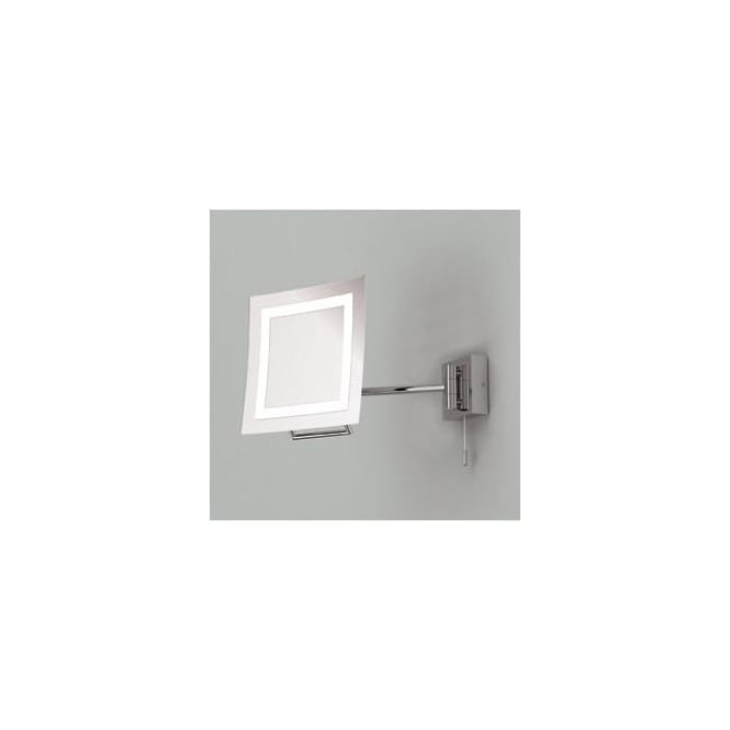 Astro Lighting 0485 Niro switched, swing-arm illuminated bathroom mirror, IP44