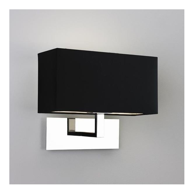 Astro Lighting 0516 Park Lane Nickel Wall Bracket With Black Shade