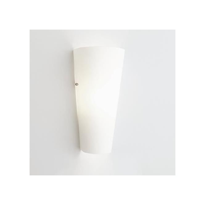 0533 Viva Low Energy White Glass Wall Light