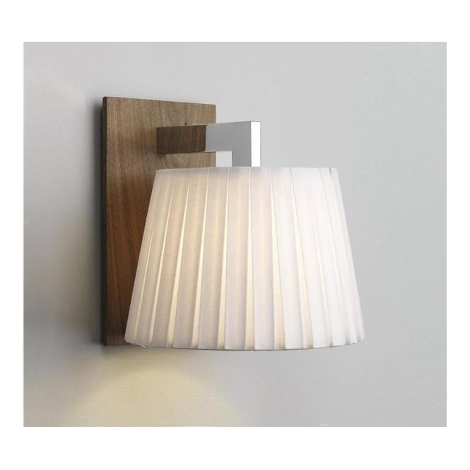 Astro Lighting 0553 Nola Walnut Wall Bracket With Cream Shade