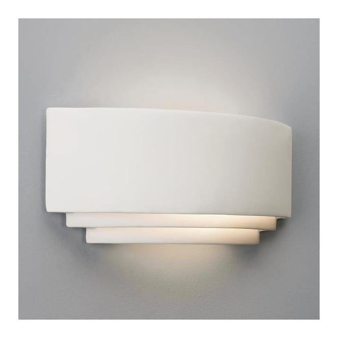 Astro Lighting 0577 Amalfi Plus 370 Art Deco Low Energy Wall Light