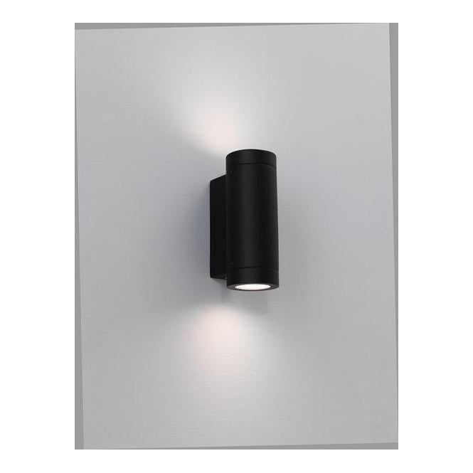 Astro Lighting 0626 Porto Plus Low Energy Twin Black Exterior Wall Light