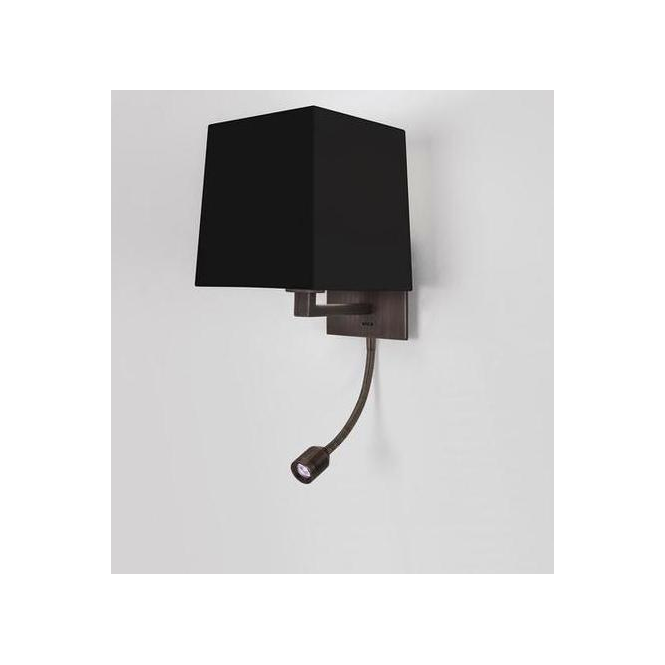 0647 Azumi Low Energy Bronze Wall Light,with a choice of shades
