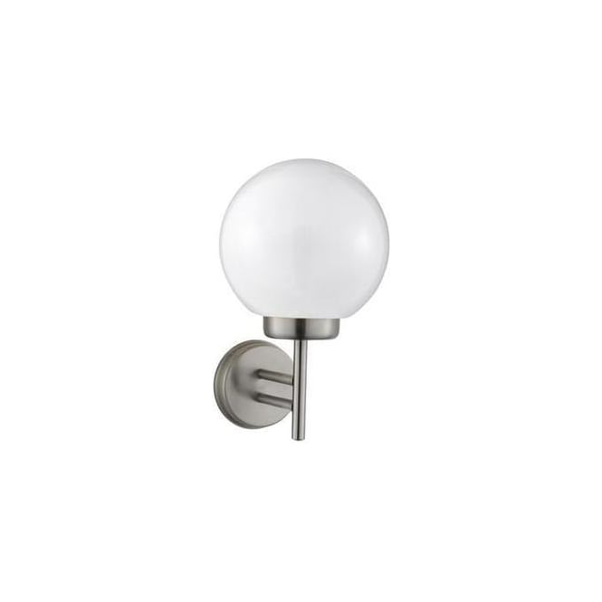 Searchlight 075 Globe Outside Wall Light In Stainless Steel