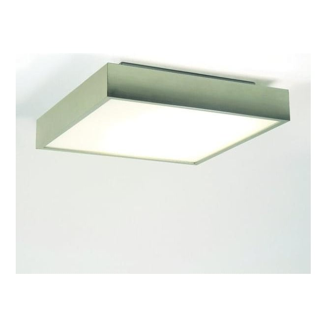 Astro Lighting 0820 Taketa Square Bathroom Ceiling Light In Matt Nickel