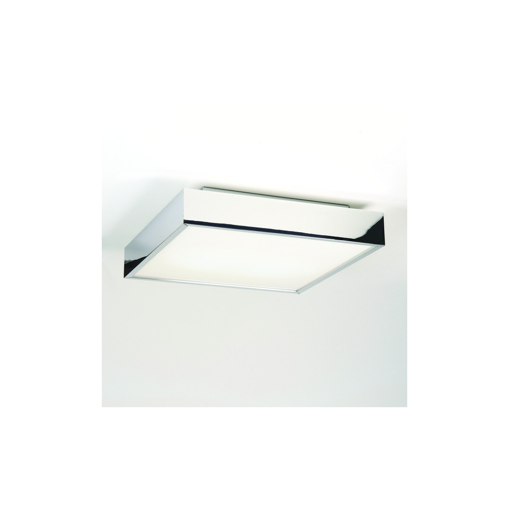 taketa square bathroom ceiling light in chrome