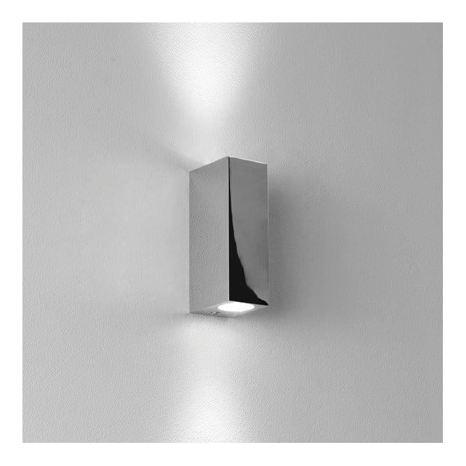 Astro Lighting 0829 Bloc Double Bathroom Wall Light In Chrome