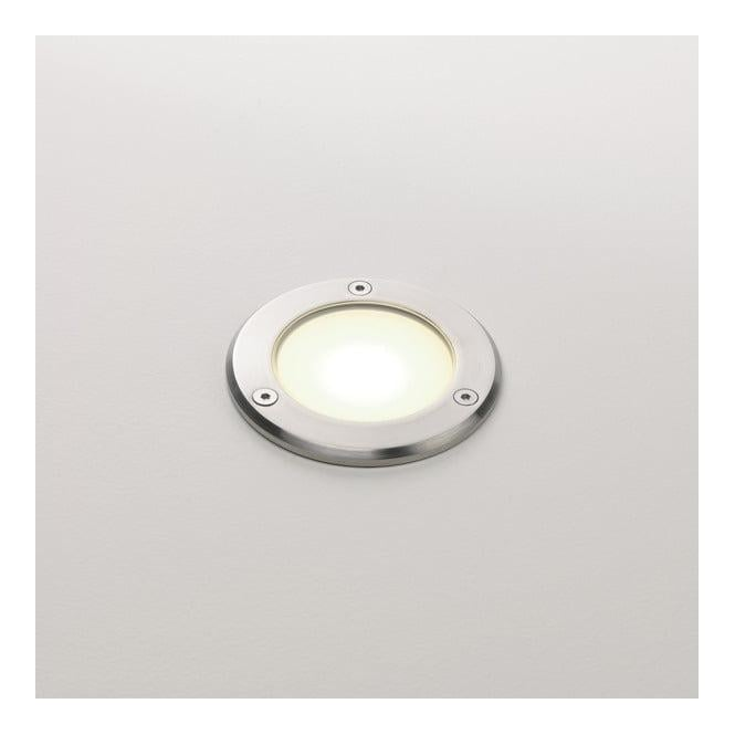 Astro Lighting 0935 Terra 90 Round Exterior Recessed Ground Light Steel