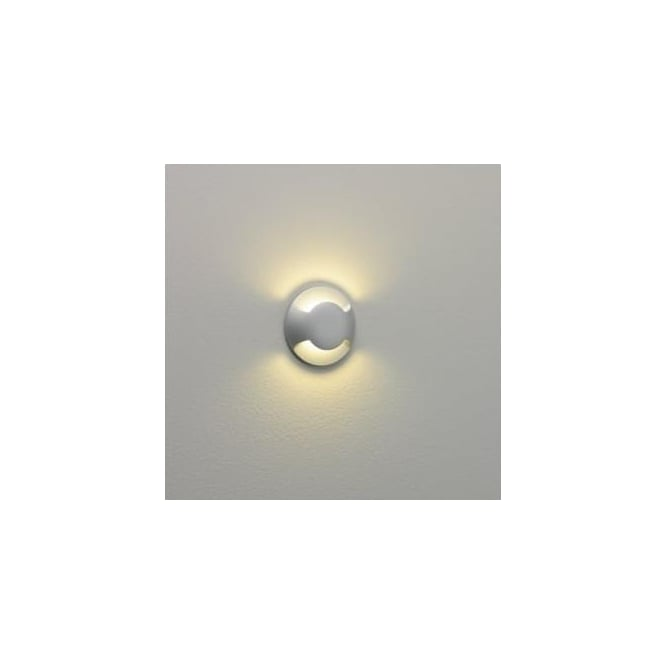 Astro Lighting 0938 Beam Two Round Exterior Double Down Light Silver