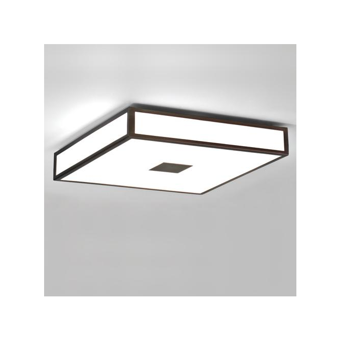 Astro Lighting 0969 Mashiko 400 Painted Bronze Cubed Ceiling Light