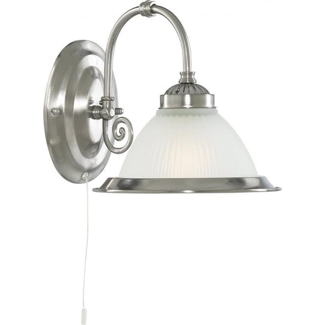 Searchlight 1041-1 American Diner 1 Light Satin Silver Wall Bracket