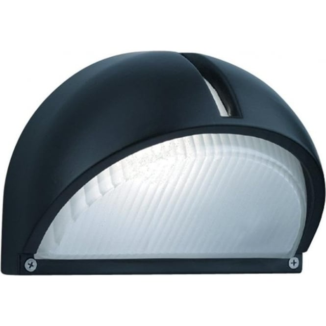 Searchlight 130 Black Domed Outside Wall Light
