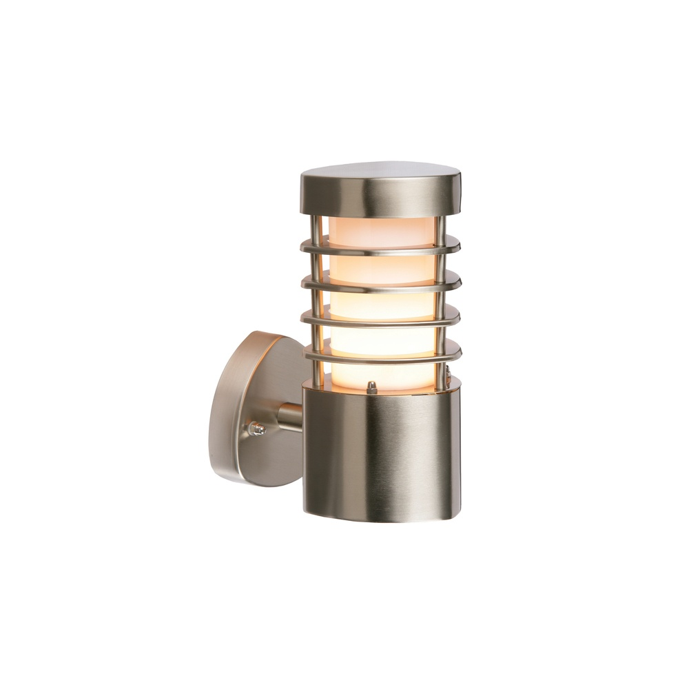 Endon 13798 Bliss 1 Light Exterior Brushed Steel Wall Light - Lighting from The Home Lighting ...