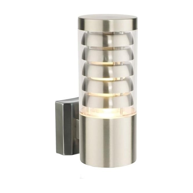 Saxby Lighting 13921 Tango 1 Light Exterior Brushed Steel Wall Light