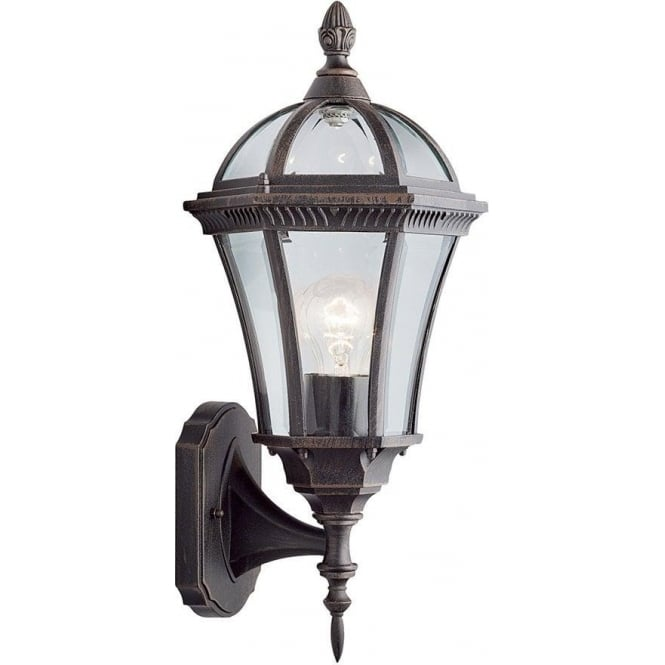 Searchlight 1565 Capri Rustic Brown Upright Small Outdoor Wall Light