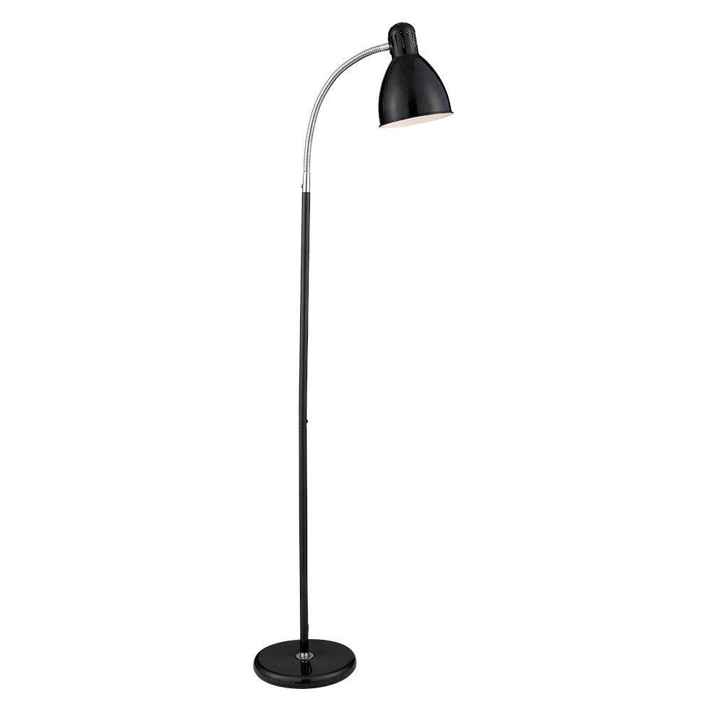 2029bk black task modern flexible floor lamp from the for Task lighting floor lamp