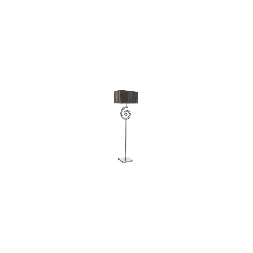 2084cc swirl floor lamp in chrome with fabric shade With swirl chrome floor lamp