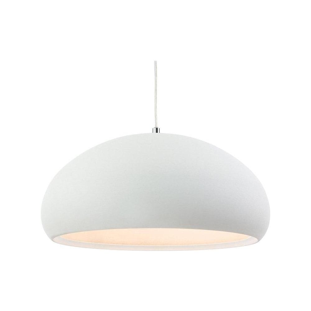 Firstlight 2308 costa white dome ceiling pendant light lighting from the home lighting centre uk