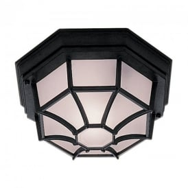 2942BK Outdoor Hexaganal Black Flush Light