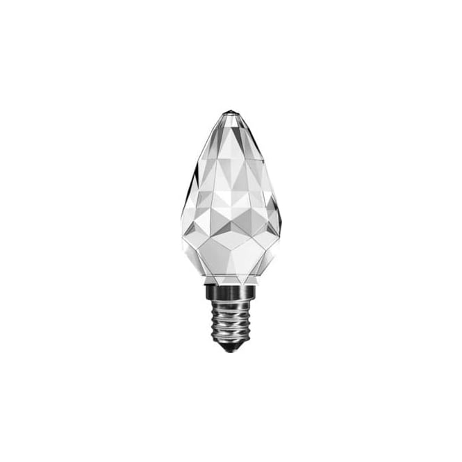 3 Watt SES(E14) Clear Candle LED Crystal Faceted Lamp