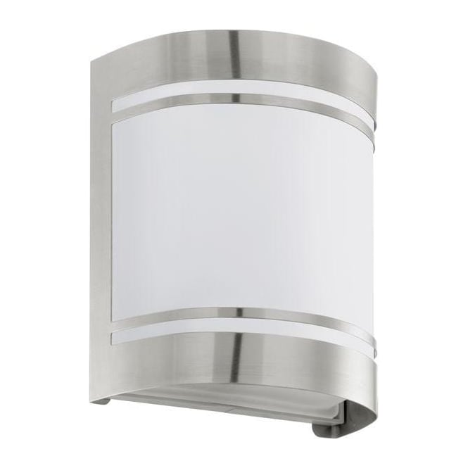 Eglo Lighting 30191 Cerno Outdoor Stainless Steel Flush Wall Light