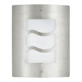 30193 City 1 Outdoor Stainless Steel and White Wall Light
