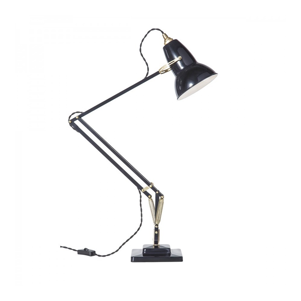 31301 Original 1227 Adjustable BRASS Desk Lamp In Deep Slate