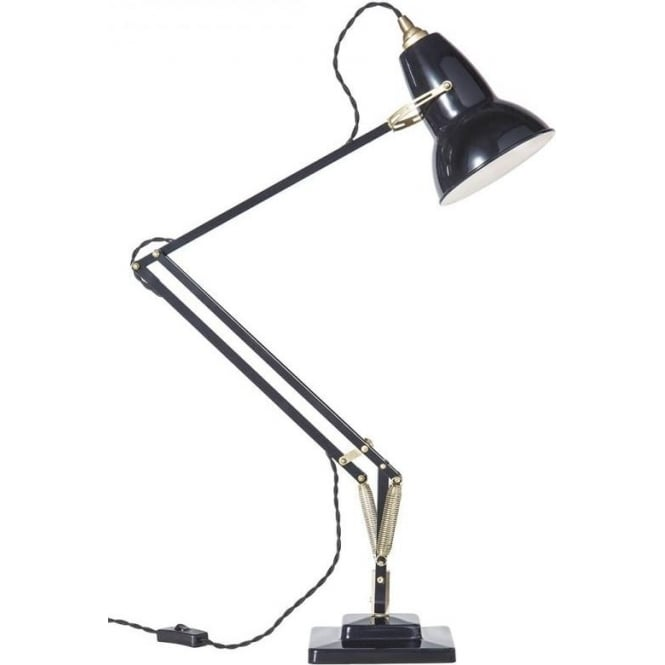 Anglepoise 31301 Original 1227 Adjustable BRASS Desk Lamp in Deep Slate