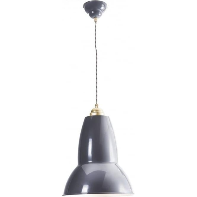 Anglepoise 31305 Original 1227 BRASS MAXI Ceiling Pendant in Elephant Grey