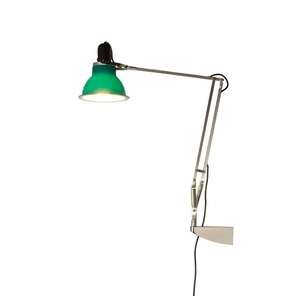 Anglepoise 31314 Type 1228 Wall Mounted Adjustable Light in Mid Green - Anglepoise from The Home ...