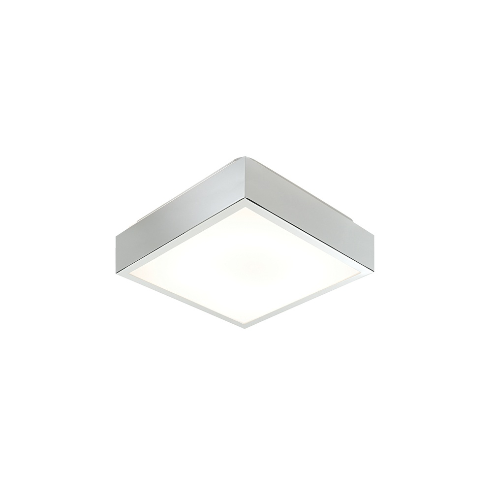 Saxby Lighting 31949 Cubita Square Sml Chrome Flush Bathroom Ceiling Light Lighting From The