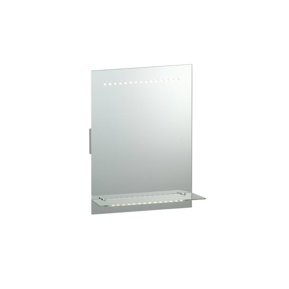 Saxby Lighting 39237 Omega LED Illuminated Bathroom Mirror With ...