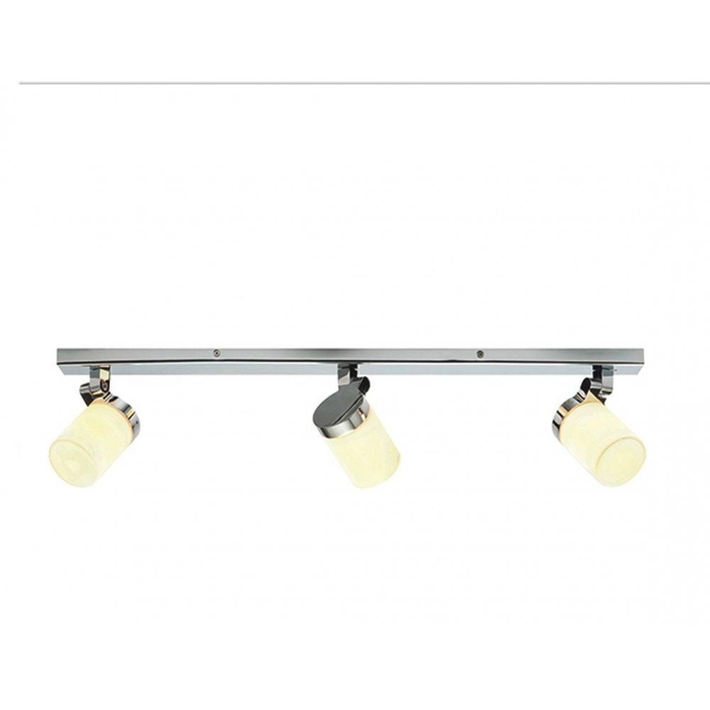 Saxby Lighting 39297 Cosmo 3 Light Bathroom Chrome Bar Ceiling Light Saxby