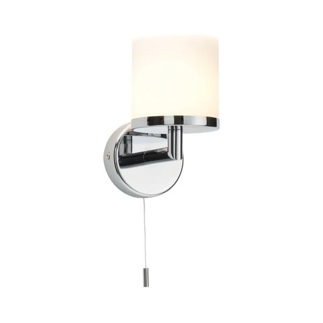 Saxby Lighting 39608 Lipco 1 Light Bathroom Switched Chrome Wall Light