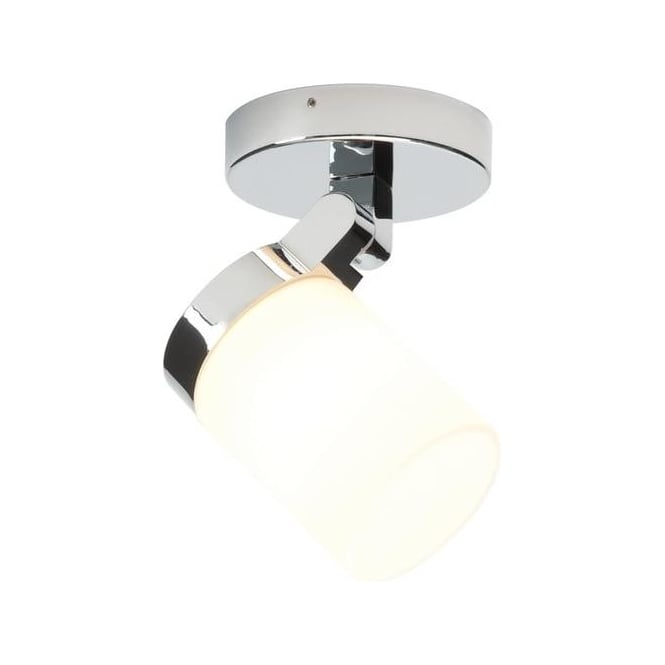 Saxby Lighting 39616 Cosmo 1 Light Bathroom Chrome & Glass Ceiling Light