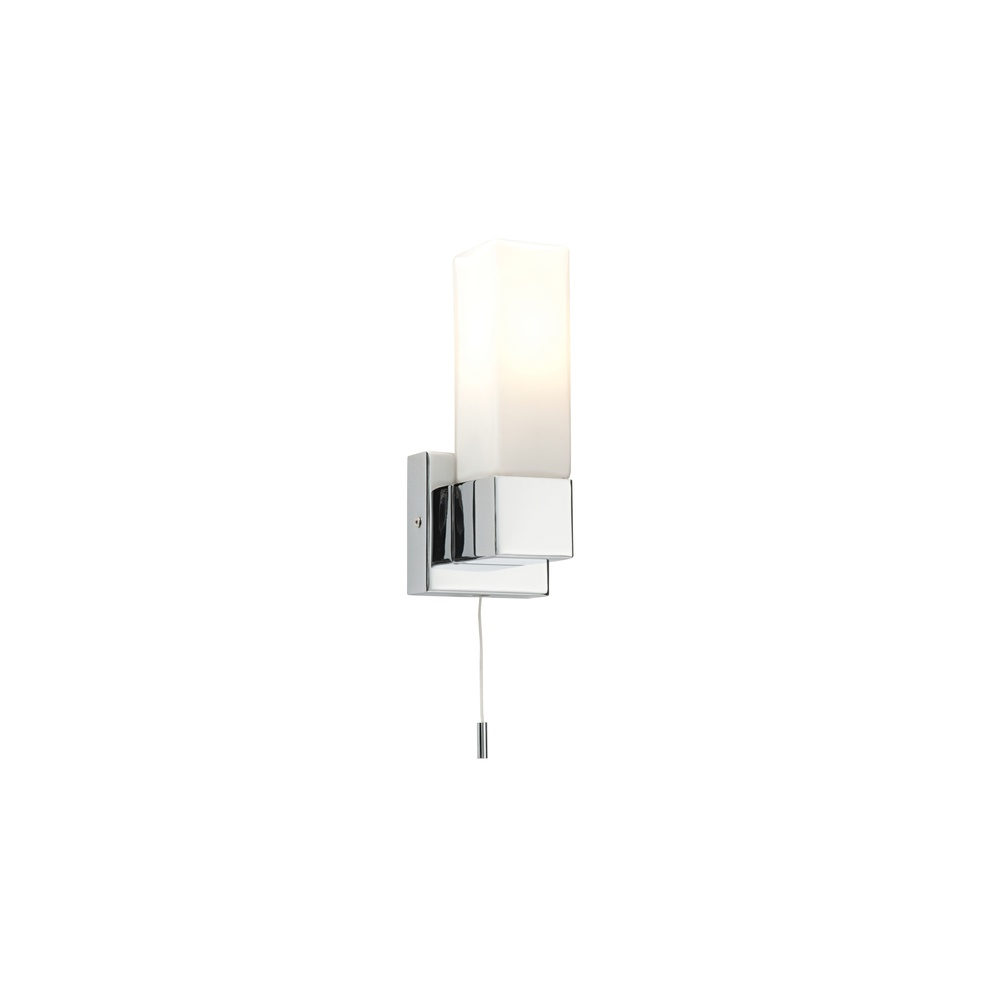 competitive price 10456 2fb70 39627 Square 1 Light Bathroom Switched Chrome Wall Light