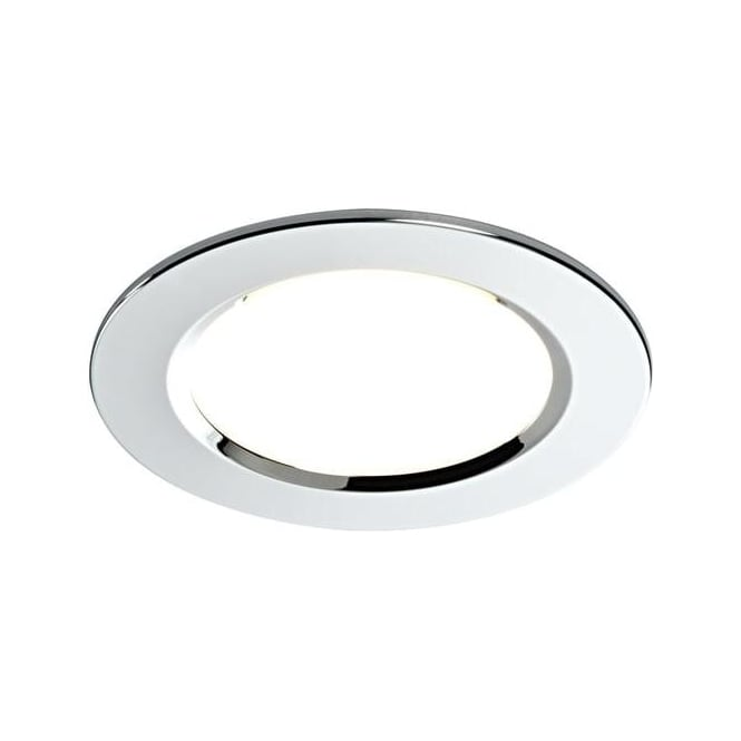 Saxby Lighting 39729 Zing Bathroom Chrome & Glass Small Recessed Downlight