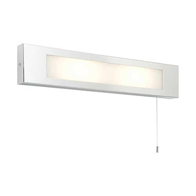 Saxby Lighting 39913 Panello 2 Light Bathroom Switched Chrome Wall Light