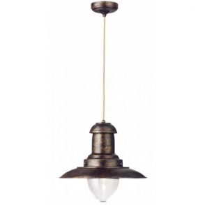 4301RU Fisherman Pendant Lantern Rustic Brown