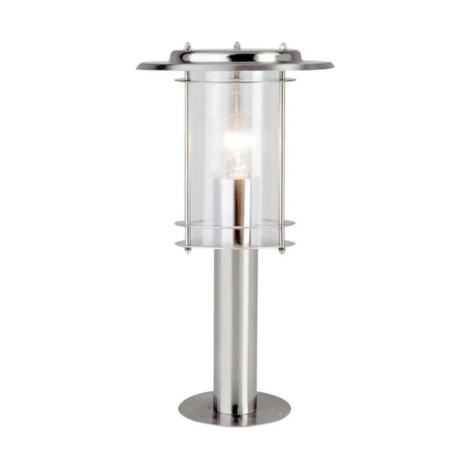 4478482 York 1 Light Exterior Polished Steel Lantern Post