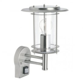 4479782 York 1 Light Exterior Sensor Polished Steel Lantern