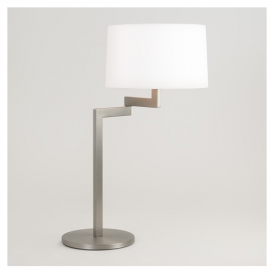 4526 Momo Contemporary Table Lamp in Brushed Steel