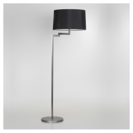 4529 Momo Contemporary Floor Lamp in Brushed Steel