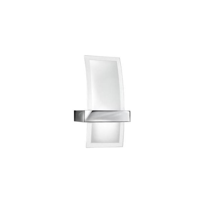 Searchlight 5115 Contemporary Halogen Glass And Chrome Wall Light Lighting Uk