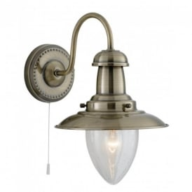 5331-1AB Fisherman Antique Brass Wall Light