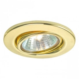 5498 Einbauspot 12V 3 Light Set of Brass Recessed Light