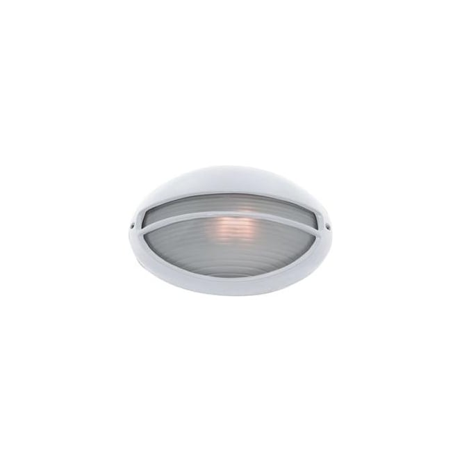 5544WH Oval White Outdoor Wall Bracket