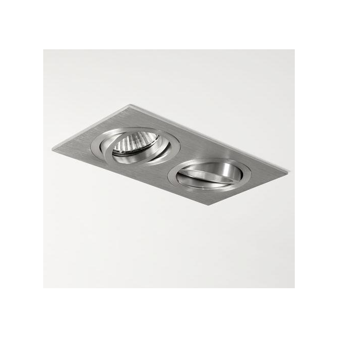 Astro Lighting 5649 Taro Twin Adj Brushed Aluminium Halogen Downlight